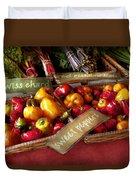 Food - Vegetables - Sweet Peppers For Sale Duvet Cover