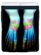 Foot X-ray Duvet Cover