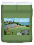 Football Field By The Bay Duvet Cover