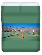 Football Game, University Of Michigan Duvet Cover