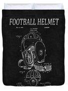 Football Helmet Patent 4 Duvet Cover