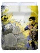 Football Player Duvet Cover
