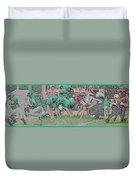 Football Playing Hard 3 Panel Composite Digital Art 01 Duvet Cover