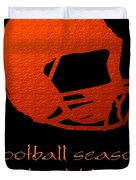Football Season Should Be Year Round In Orange Duvet Cover by Andee Design
