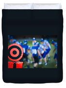 Football Sideline Marker Duvet Cover