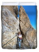 Footbridge On Via Ferrata Duvet Cover
