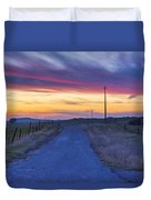 Foothill Sunset Duvet Cover