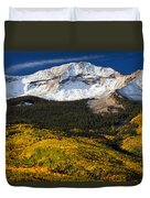 Foothills Of Gold Duvet Cover by Darren  White