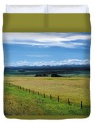 Foothills Of The Rockies Duvet Cover by Terry Reynoldson