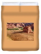 Footprints In The Sand  Canyon Dechelly Duvet Cover