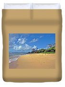Footprints In The Sand Duvet Cover