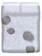 Footprints In The Snow Duvet Cover