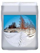 Footprints In The Snow - Sphere Duvet Cover