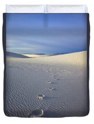 Footprints Duvet Cover by Mike  Dawson