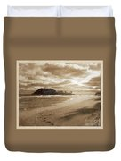 Footsteps In The Sand Duvet Cover