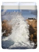 Force Of Breaking Waves Duvet Cover