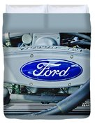 Ford Engine Emblem Duvet Cover