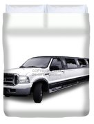 Ford Excursion Stretched Limousine Duvet Cover