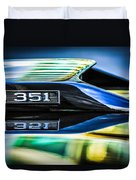 Ford Mustang 351 Engine Emblem -1011c Duvet Cover