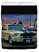 Ford Mustang At Sunset Duvet Cover