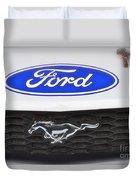 Ford Mustang Emblem Duvet Cover