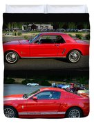 Ford Mustang Old Or New Duvet Cover