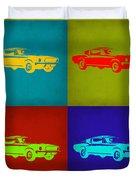 Ford Mustang Pop Art 1 Duvet Cover
