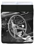 Ford Mustang Shelby In Black And White Duvet Cover