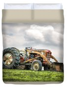 Ford Powermaster Tractor On A Hill Duvet Cover by Gary Heller