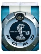 Ford Shelby Gt 500 Cobra Emblem Duvet Cover