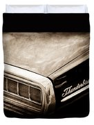 Ford Thunderbird Taillight Emblem Duvet Cover