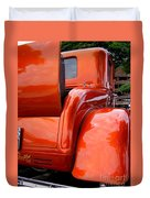 Ford V8 Rear View With Rumble Seat Duvet Cover