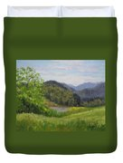 Ford's Pond In Spring Duvet Cover