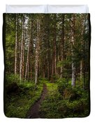 Forest Alder Path Duvet Cover by Mike Reid