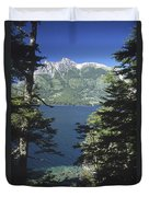 Forest And Lakes Lanin National Park Duvet Cover