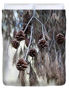 forest decoration - A pine tree give us a natural autumn decoration  Duvet Cover