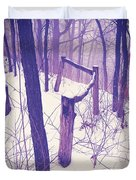 Forest Fence Duvet Cover
