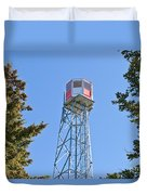 Forest Fire Watch Tower Steel Lookout Structure Duvet Cover