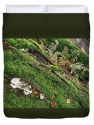 Forest Floor Fungi And Moss Duvet Cover