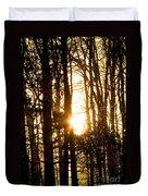Forest Flurry Lightscape  Duvet Cover