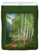 Russian Forest Footpath Duvet Cover