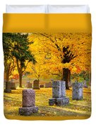 Autumn At Forest Hill Duvet Cover