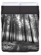 Forest In The Mist Duvet Cover