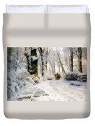 Forest In Winter Duvet Cover