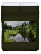 Forest Lake - Quebec - Canada Duvet Cover
