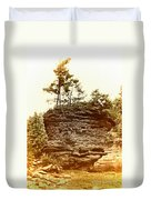 Forest On A Rock Duvet Cover
