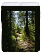 Forest Path In Spokane 2014 Duvet Cover