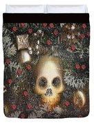 Forest Skull Pop Art Duvet Cover
