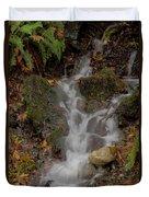 Forest Stream Cascade Duvet Cover