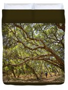 Forest Stroll - The Magical And Mysterious Trees Of The Los Osos Oak Reserve. Duvet Cover
